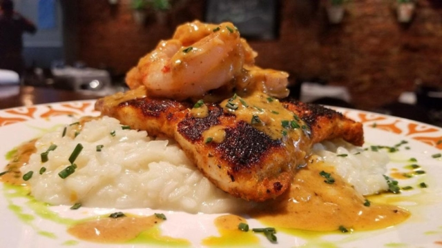 Big Easy Flounder at Cyra's restaurant in downtown Dalton, rated top best restaurant near me