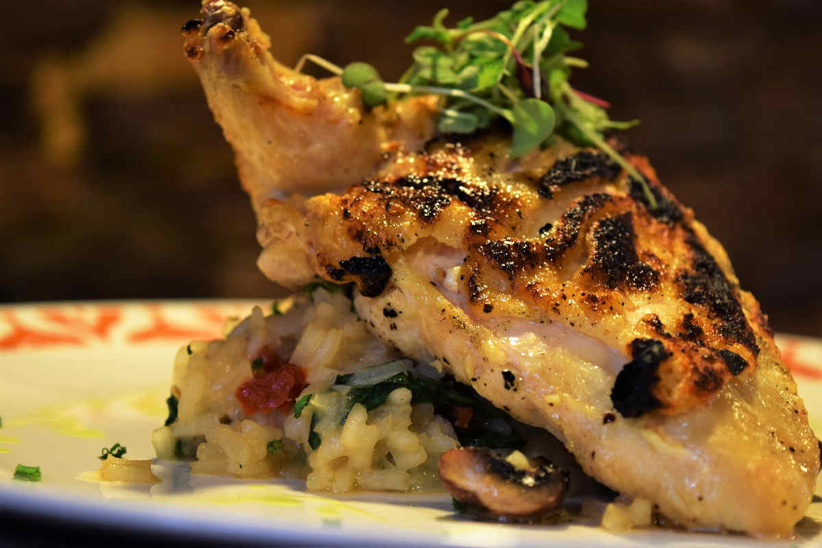 Chicken Risotto at Cyra's restaurant in downtown Dalton GA, rated top best restaurant near me