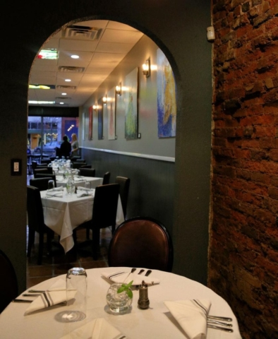 Cyra's restaurant dining room in downtown Dalton GA, rated top best restaurant near me