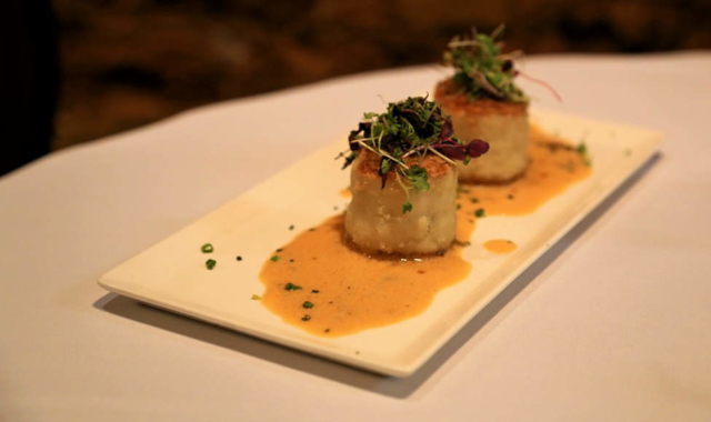 Crab Cakes at  Cyra's restaurant in downtown Dalton GA, rated top best restaurant near me